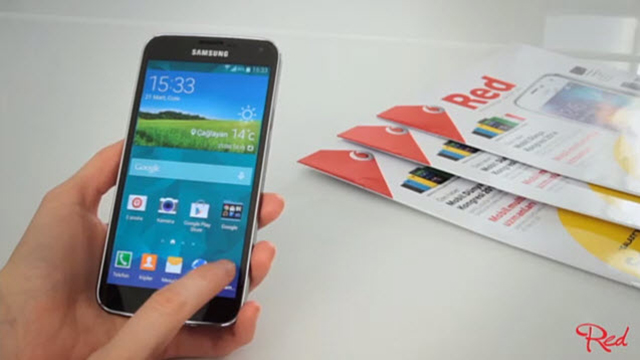 vodafone red - samsung galaxy s5 incelemesi